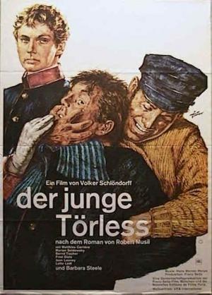 CINE(EDU)-934. El joven Törless. Dir. Volker Schlöndorff. Alemaña, 1966. Drama. Nun internado na pre-guerra austro-húngara, un par de estudantes torturan a un dos compañeiros de clase. Basini, o cal foi cazado roubando diñeiro dun dos dous. Os dous deciden, castigalo eles mesmos e proceder a torturarlo, degradalo e humillalo, cada vez con maior deleite sádico. Cada día que pasa, son capaces de xustificar un trato máis severo.  http://kmelot.biblioteca.udc.es/record=b1649386~S1*gag