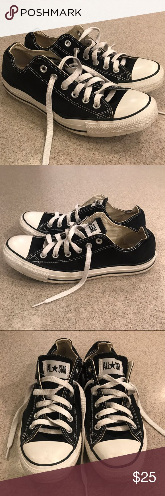 "Converse Chuck Taylor Black Sz 10 Women's Good condition due to small amount of wear on the ""all star"" logo on back, otherwise- soles clean and no stains, tears or holes. Smoke free home Converse Shoes Sneakers"