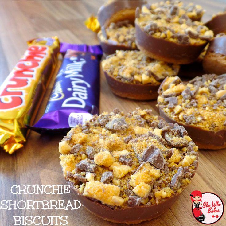 Crunchie Shortbread Biscuits