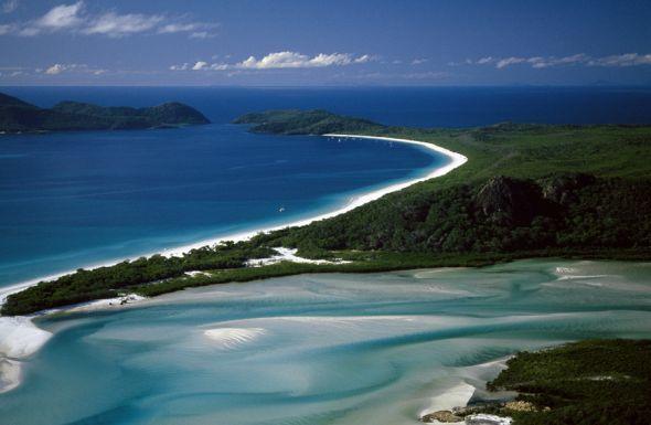 Ein Traum von Strand: Der Whitehaven Beach in Australien gilt als einer der weißesten Strände der Welt.