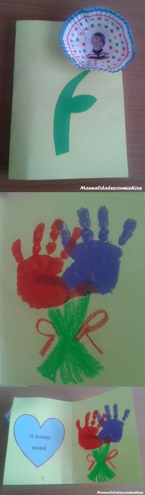 Manualidadesconmishijas: Regalo tierno de bebés para el Día de la madre