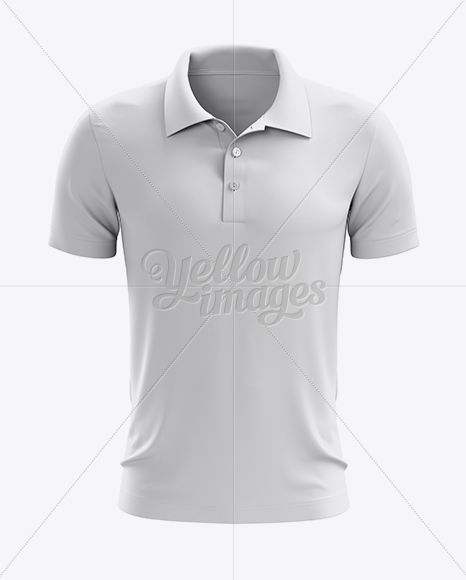 Soccer Polo T-Shirt Mockup - Front View