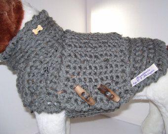 Perro pequeño suéter gris perro suéter perro pequeño perro pequeño traje para mascotas ropa para perros mimados perritos Terrier suéter
