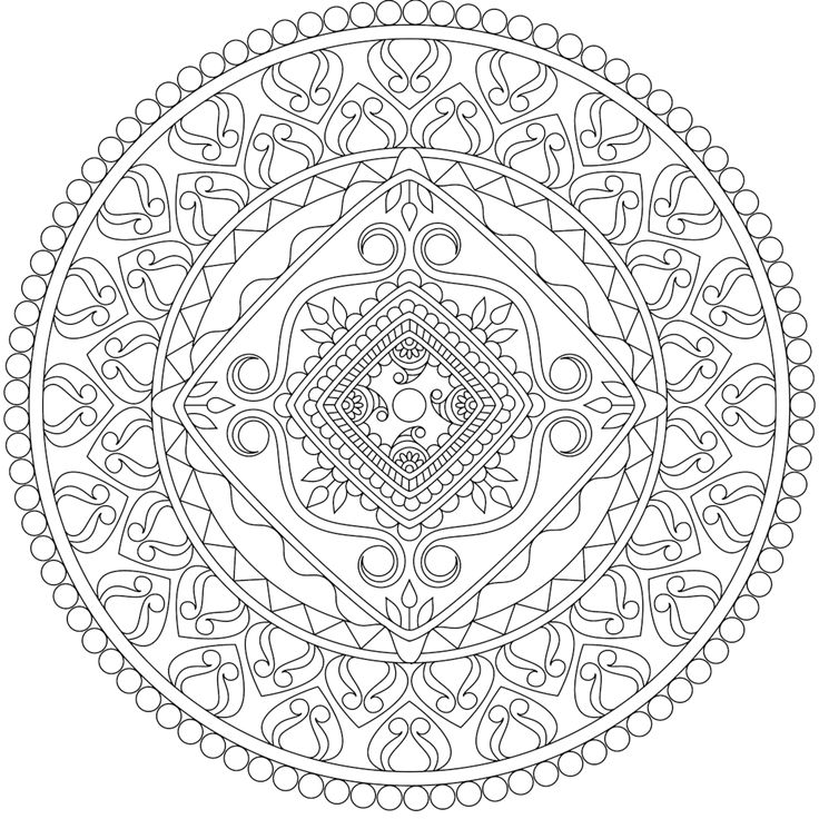 truth in life a free printable coloring page from mondaymandalacom print - Mandala Coloring Pages Free Online
