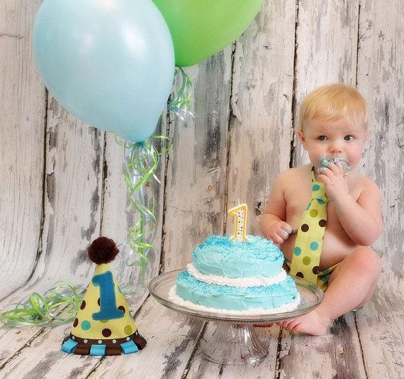 Baby Boy 1st BIrthday Set by SweetFridaysChild on Etsy, $37.50