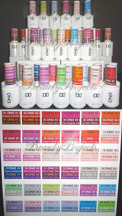 Gel Nails Dnd Daisy Set Of 36 Bottles Mood Change Collection Soak Off Gel 15ml Led Uv New