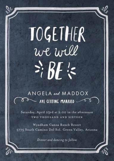 Chalked Together Invitation Suite / BHLDN + Wedding Paper Divas