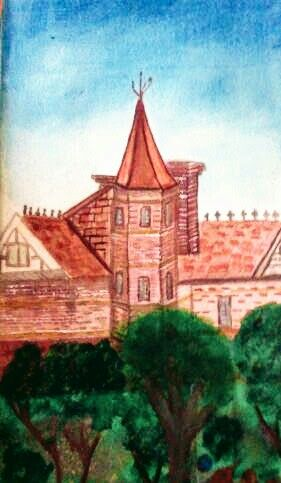 watercolor  based on a home in Goulburn