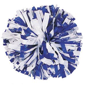 "6"" In-Stock Plastic 2 Color Spirit Handle Cheerleading Pom by Cheerleading Company - $4.99 per pom"