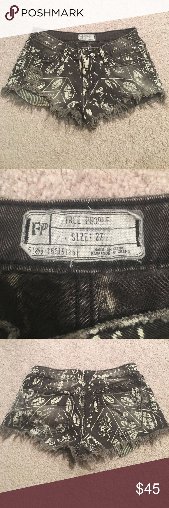 Free people Aztec shorts Free People Aztec shorts. Great condition but too small for me. Free People Shorts