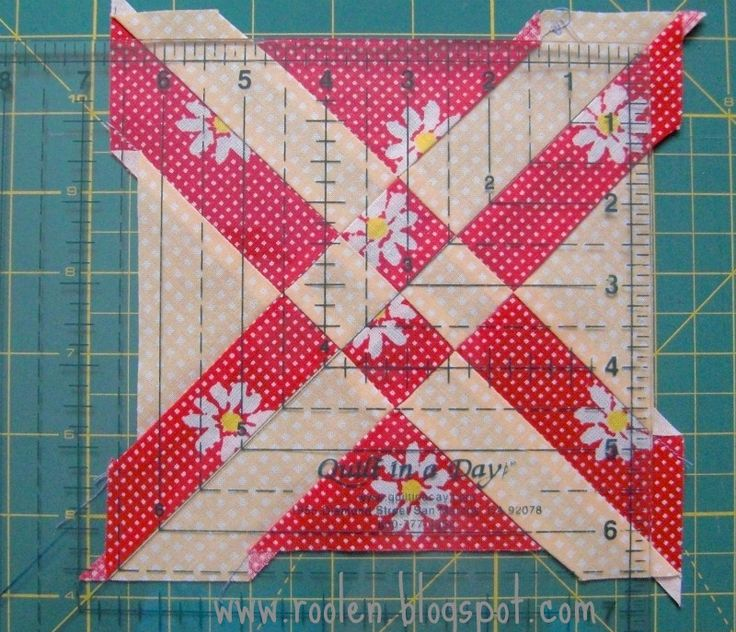 Disappearing Four Patch Arrowhead tutorial
