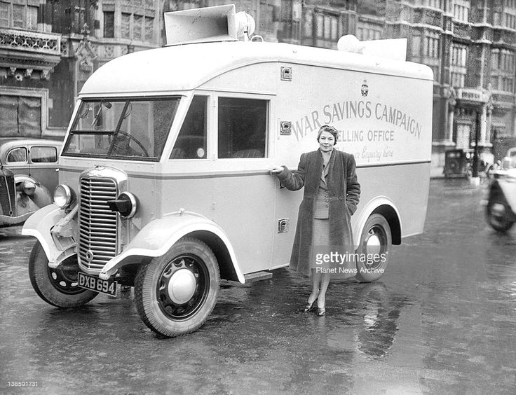 The first mobile selling office for National savings Certificates and stamps, was given a send-off by Lord Kindersley.'