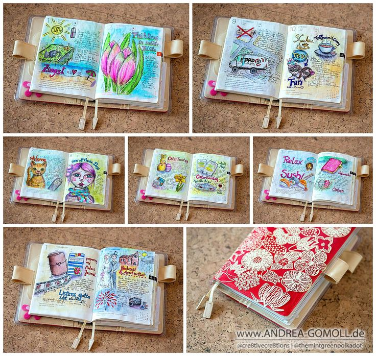 Cre8tive Cre8tions by Andrea Gomoll | Hobonichi Planner daily Pages – Flip Through April 2015 | http://andrea-gomoll.de