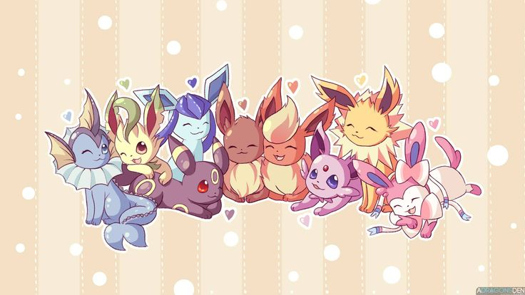 Las evoluciones de Pokémon: Eevee convertidos en dibujos de chicas – A-Tamashi