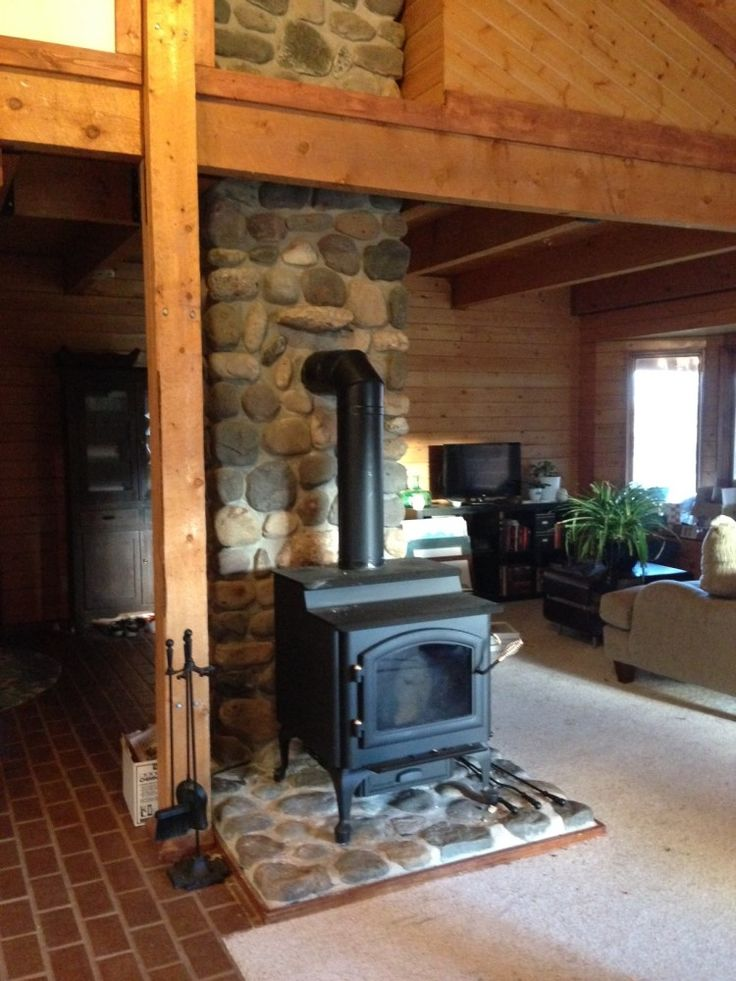Quadra fire 4300 step top wood burning stove woodstove cabin wy living room have Living room ideas with stoves