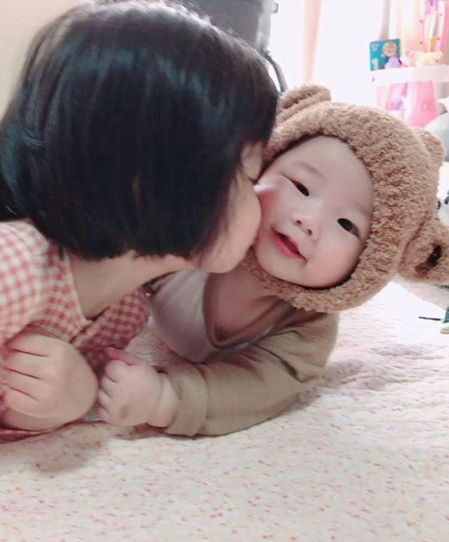 Asian loving family