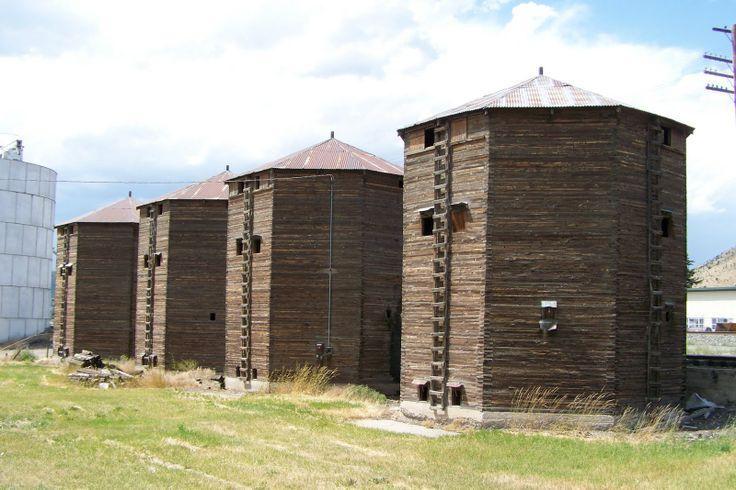 old wooden silo,s Soda Springs Idaho