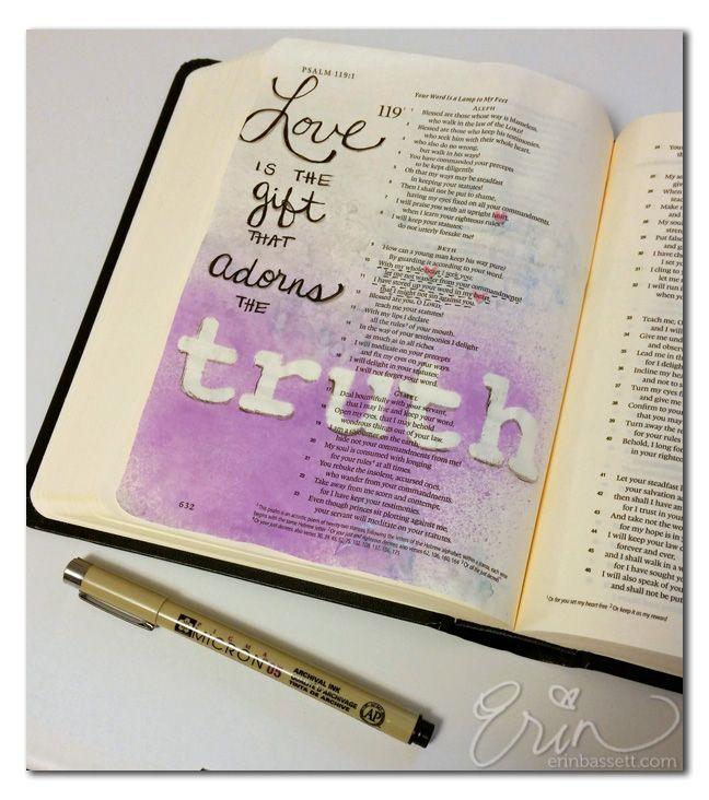 Illustrated Scripture - art journal in your Bible #illustratedfaith