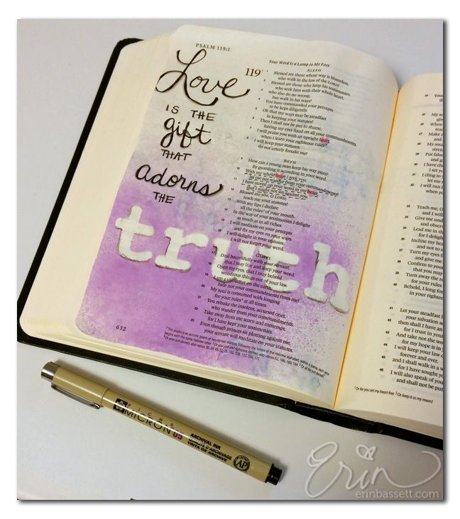 Illustrated Scripture - art journal in your Bible #illustratedfaith