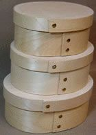 Oval Bentwood Boxes