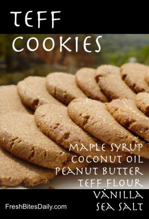 Teff Peanut Butter Cookies (Gluten-Free, Corn-Free) MUST TRY, will probably try with cashew butter instead.  Link worked for me.