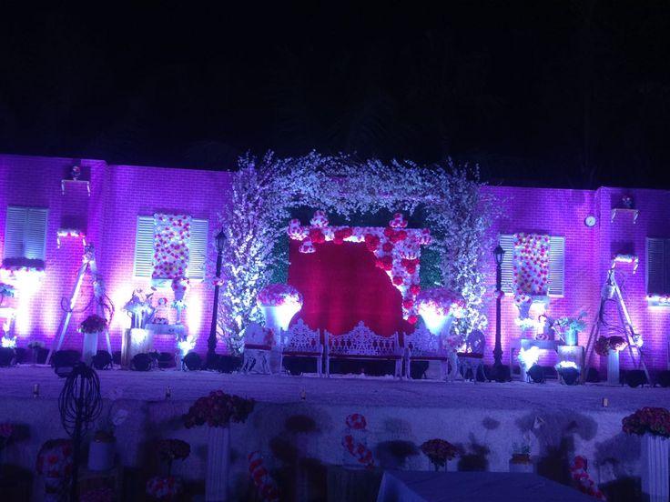 European theme decor for a wedding reception at Della Resort, Lonavala. #destinationwedding #lonavala #wedding #decor