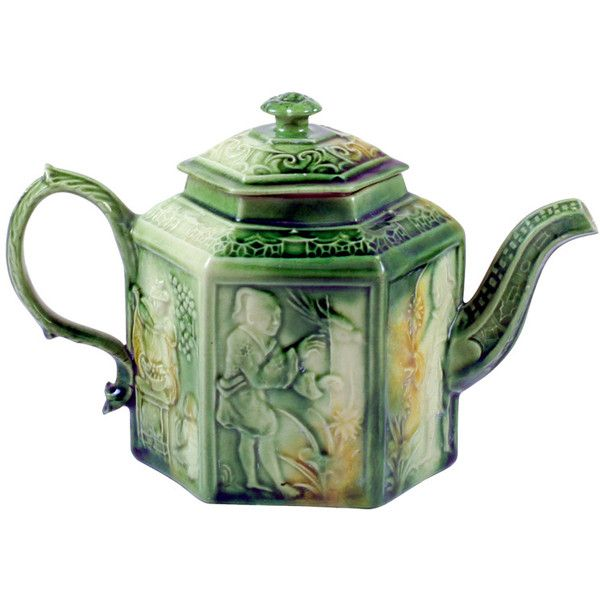 Wedgwood-Whieldon Teapot ❤ liked on Polyvore featuring home, kitchen & dining, teapots, fillers, objects, food, kitchen, asian tea pot, wedgwood teapot and wedgwood