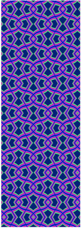 Diamond Shapes on Blue Yoga Mat by Terrella