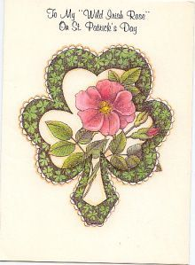 ST PATRICK'S DAY | My Wild Irish Rose | c. 1994 | Marion Heath Greeting Cards Number #125SP10107