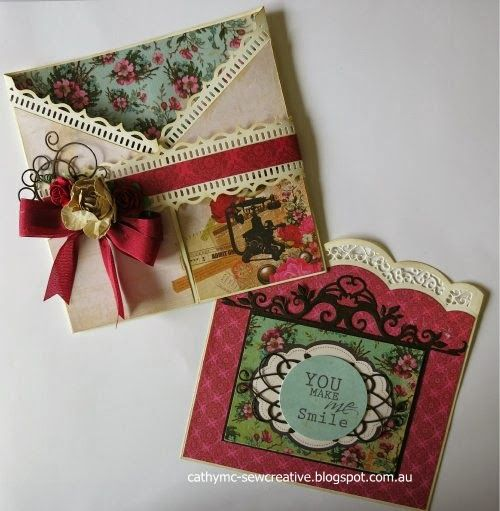 Kaisercraft Telegraph Road ~You Make Me Smile~ Tag Pocket Card