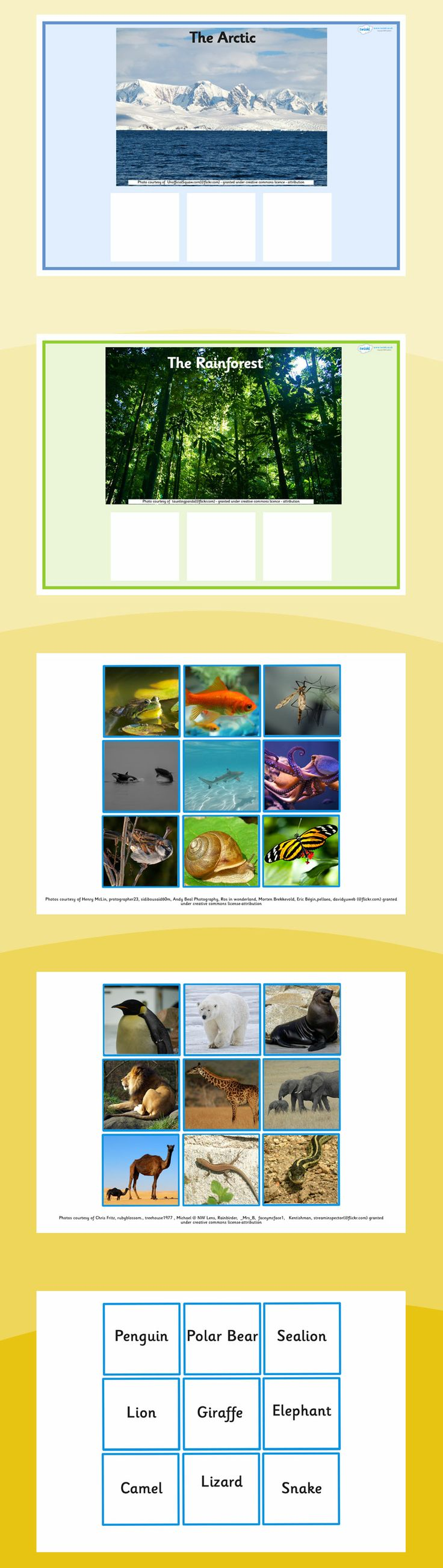 habitats animals habitat matching word card game school is cool pinterest animal habitats. Black Bedroom Furniture Sets. Home Design Ideas