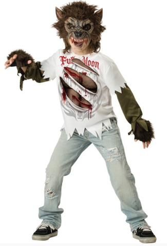 KIDS WEREWOLF DRESS UP COSTUME 6-7YR BY INCHARACTER