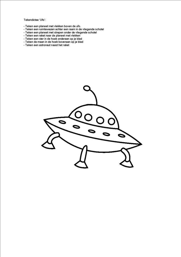 Tekendictee ufo. (3de kleuterklas)