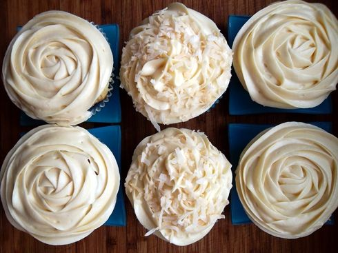 Tres leches cupcakes with dulce de leche buttercream