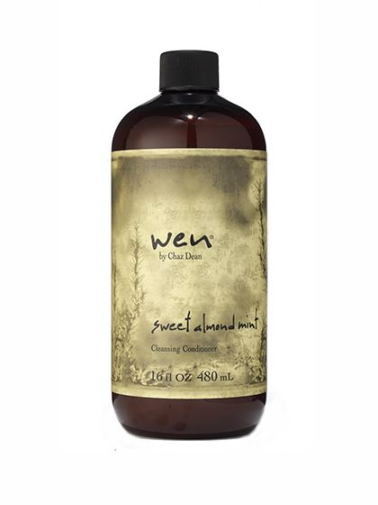 HAIR Wen by Chaz Dean Sweet Almond Mint Cleansing Conditioner. This creamy cleansing conditioner leaves hair so exceptionally silky that it's worth giving up the joy of suds.