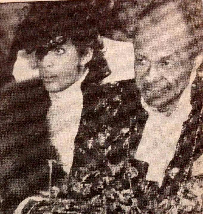 Prince & his dad, the late John Nelson