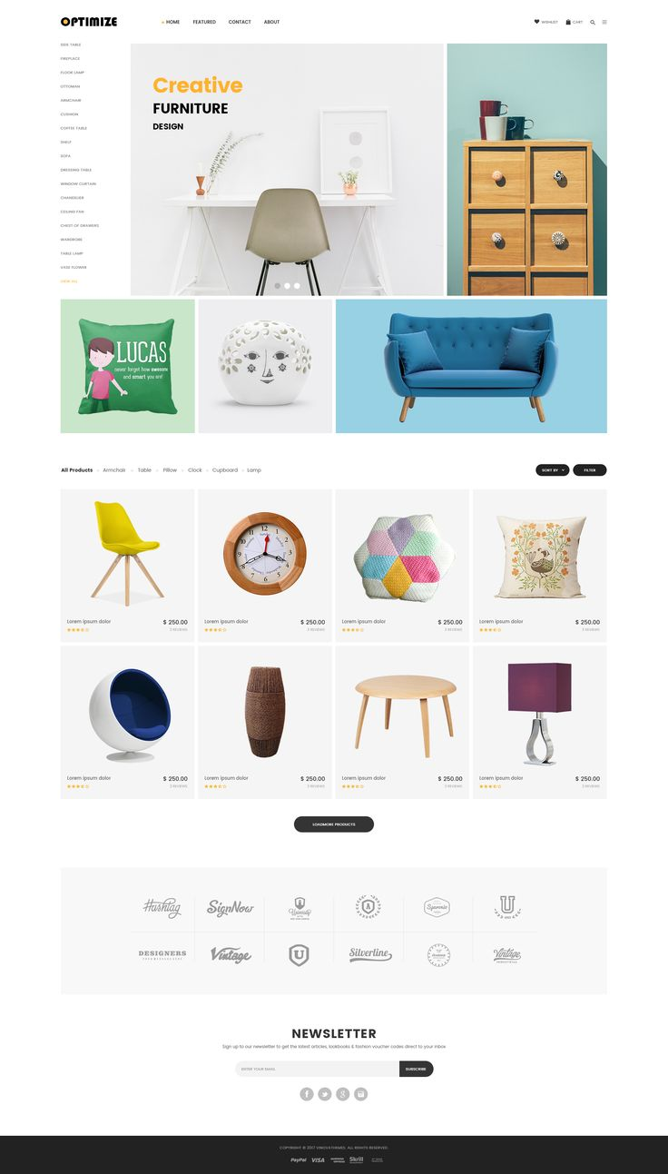 """Check out my @Behance project: """"Optimize - Minimalist Ecommerce Template"""" https://www.behance.net/gallery/53437737/Optimize-Minimalist-Ecommerce-Template"""