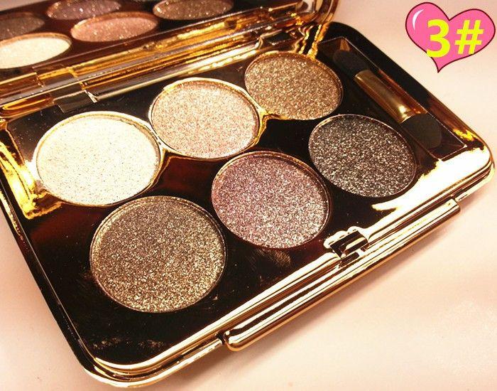 6Colors Flash Diamond Eyeshadow Nude Makeup Pallete Waterproof Luminous Glitter Cosmetics Eye Makeup Tools maquiagem sombra
