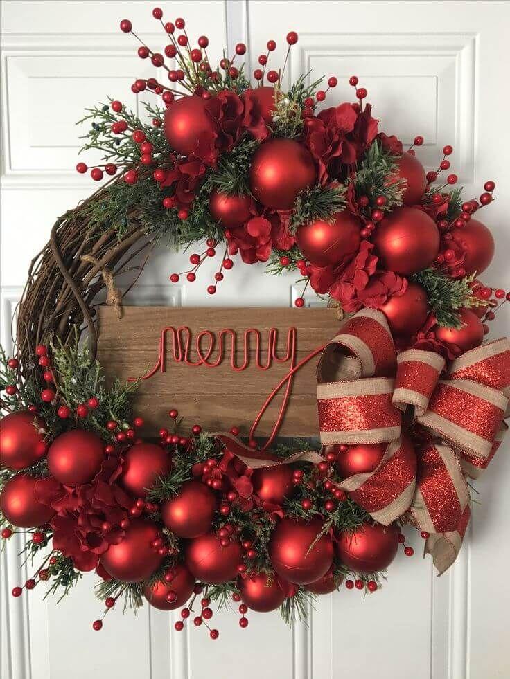 Merry and Bright Door Wreath