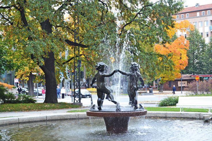 """Spring"" still showers in Tampere in October"