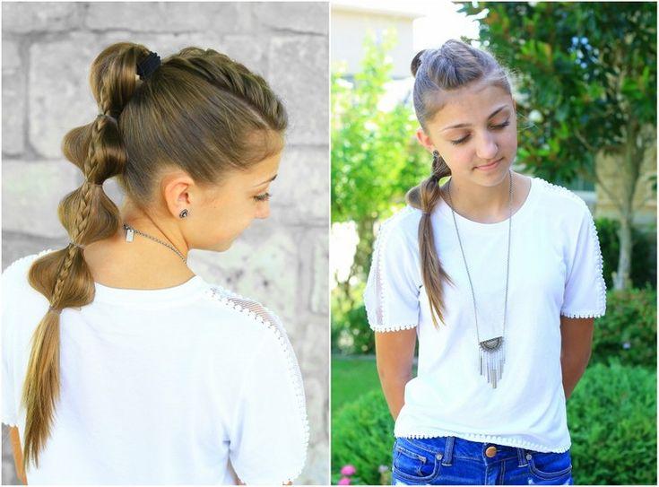 flechtfrisuren für kinder lange haare zopf gebundene haare #hairstyles #hair #k…