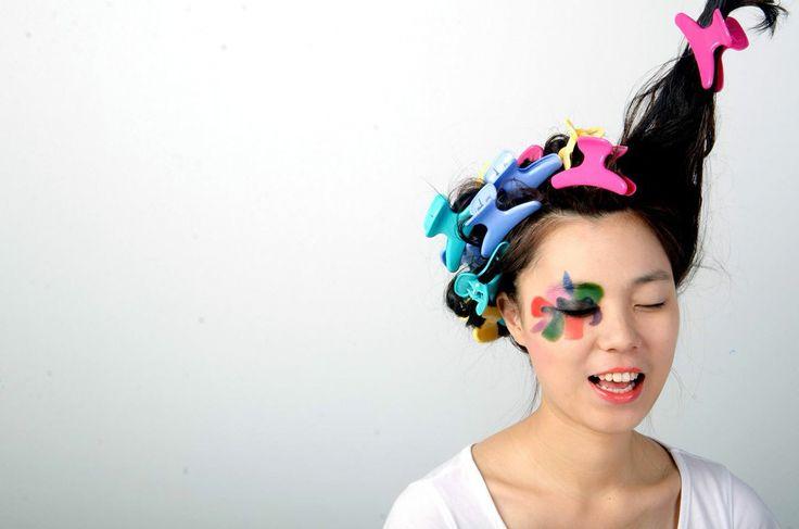 Fashion colourful makeup beauty