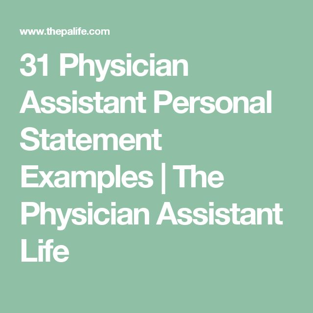 """physician assistant personal statement help Physician assistant personal statement paper details: q: """"what is your motivation for becoming a physician assistant"""" maximum word count 5000 this essay is a personal statement for entering the master's program."""