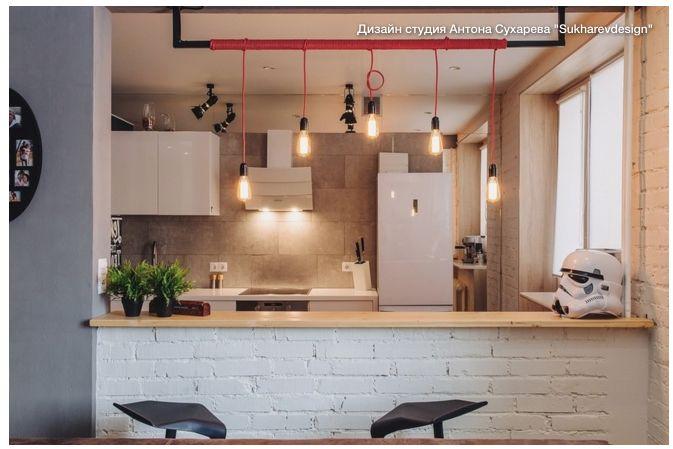 Яркий лофт: мужской интерьер и кирпичная стена в квартире для холостяка 2017-04-03 08-59-36.png