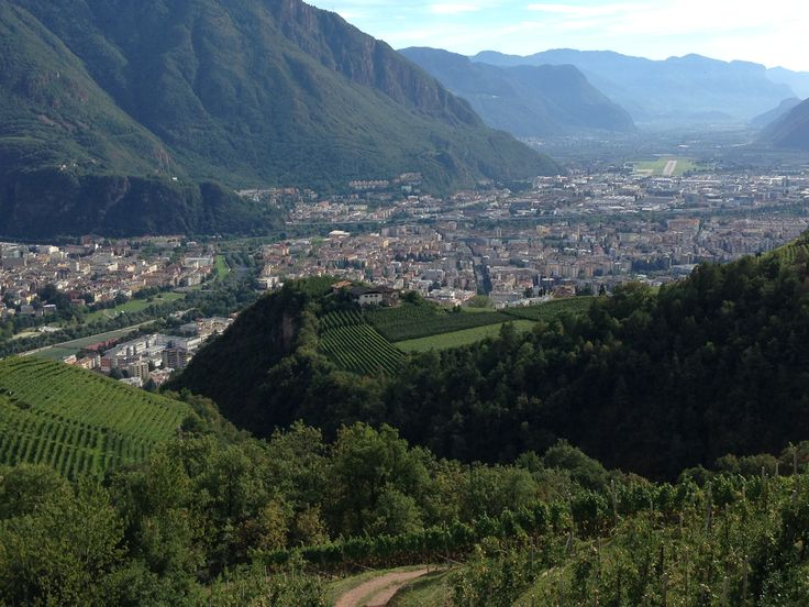 View to #Bolzano from the hamlet St. Georgen #Rottensteiner #winery #wine #winelovers #SouthTyrol