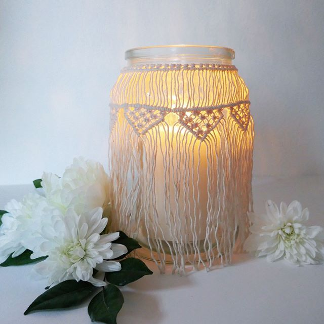 Bohemian light Handmade macrame lantern for sale on my etsy shop. Can also be use as a vase  ( link in my bio) . . . . . . . . . . #lantern #macramelantern #vase #jar #candle #flowers #wedding #weddingdecoration #macrame #modernmacrame #cotton #deco #homedecor #homeinterior #homesweethome #decoration  #bohemian #bohemianstyle #bohostyle #homedecor #homedecoration  #boho #forsale #etsy #etsyshop #smallbusiness #supportsmallbussiness #handmade #australiahandmade
