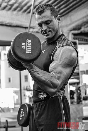 Work the Biceps Brachii & Brachialis - With Standing Dumbbell Curls