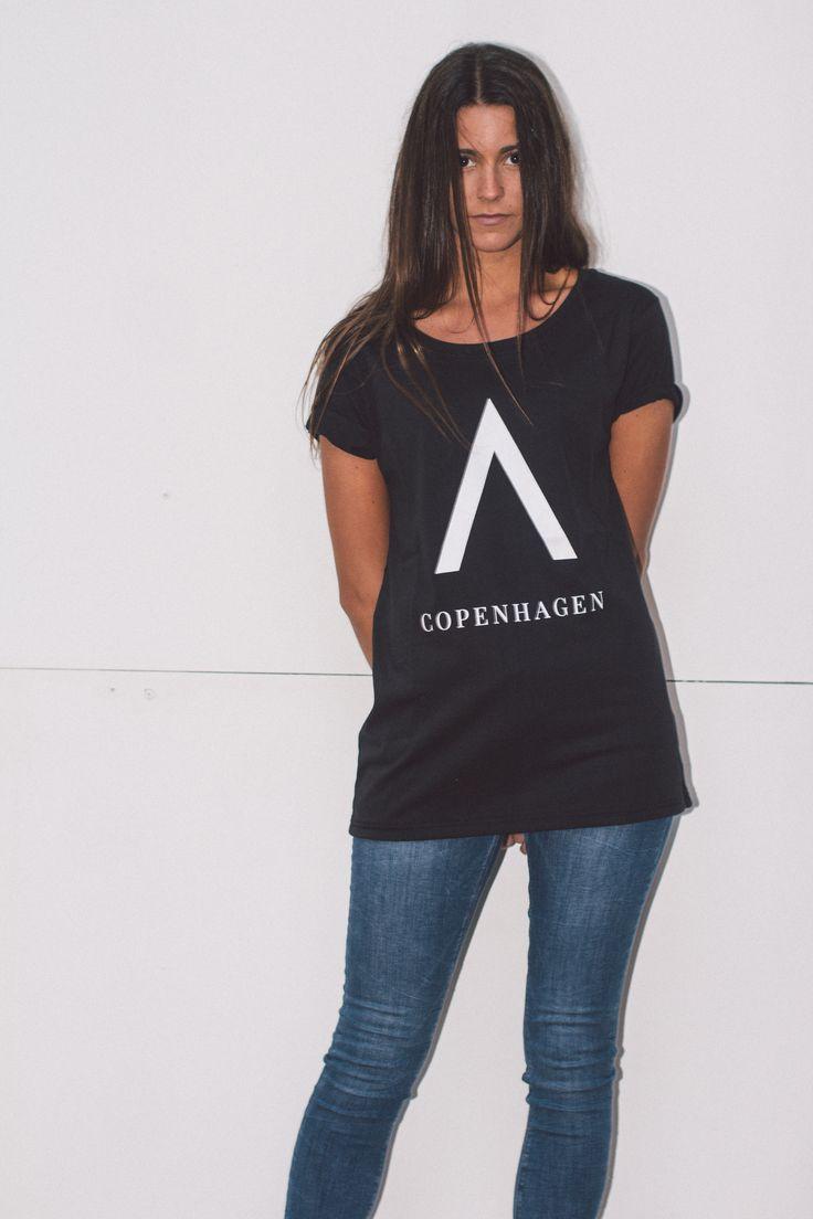 Unisex Black ''A Copenhagen'' T-shirt from Audace Copenhagen - 100% Cotton http://www.audace.dk/collections/t-shirts/products/audace-copenhagen-t-shirt-a-copenhagen-black