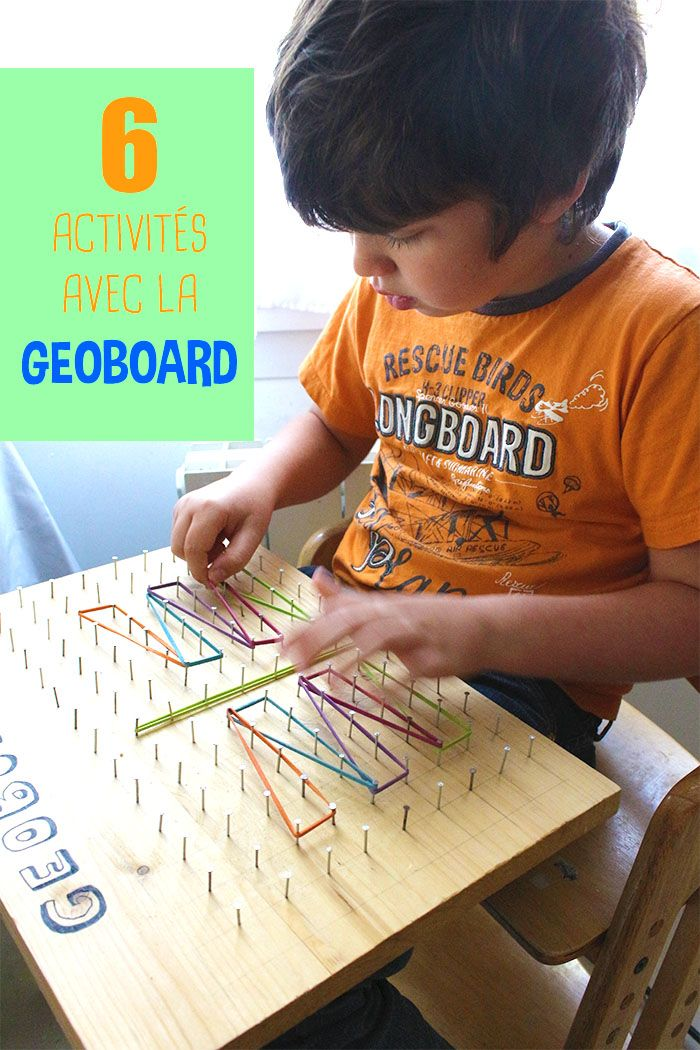 6 activités geoboard