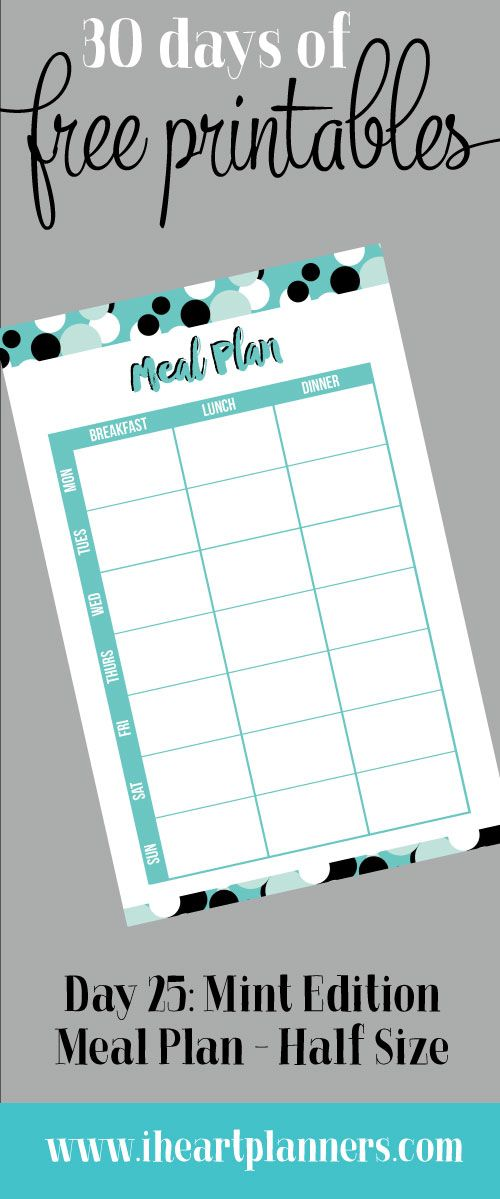 3850 best planners printables images on pinterest for Half size set of plans